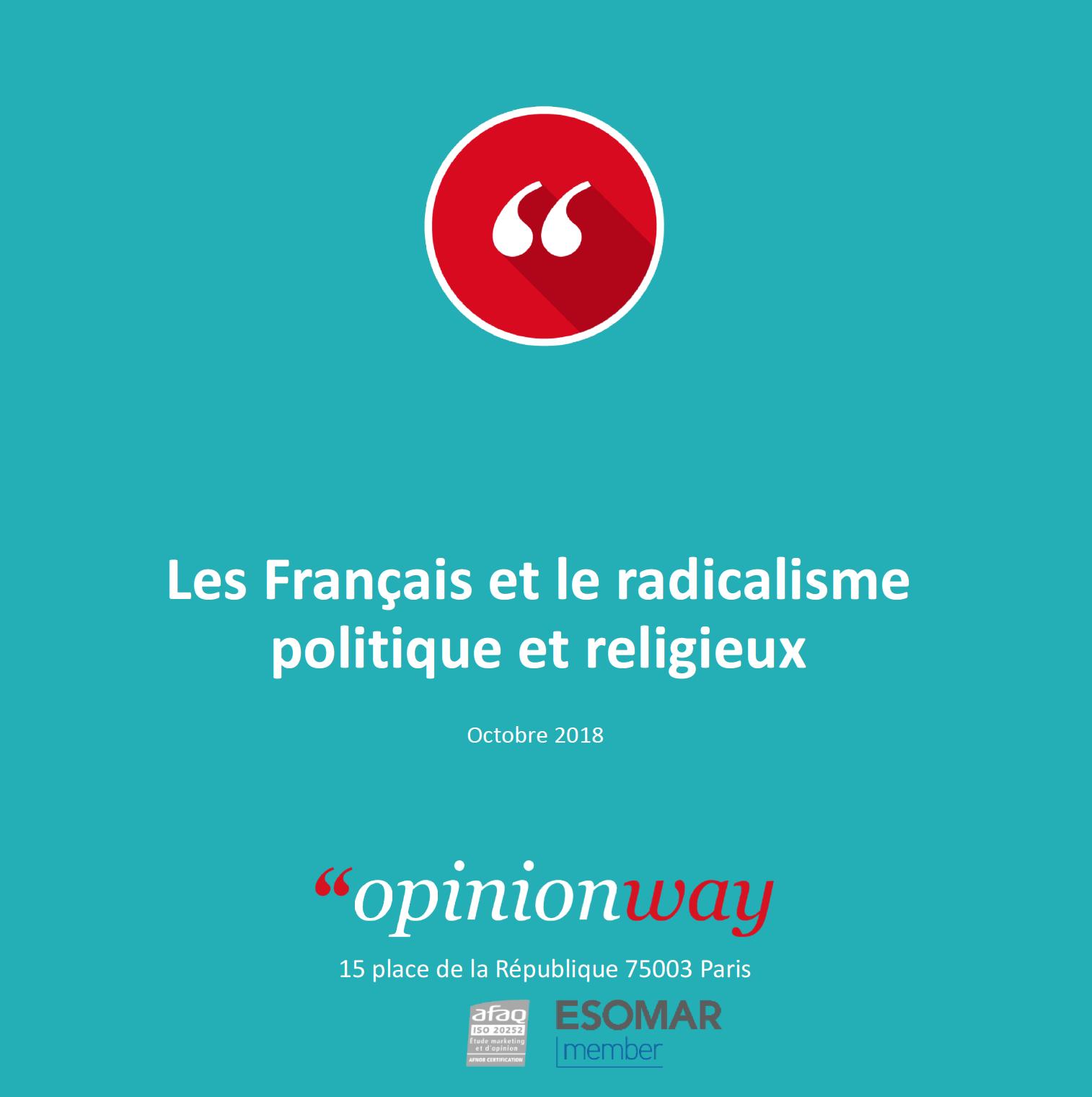 Sondage « Opinionway   « Les Français et le radicalisme politique et  religieux » f9dbd2a607aa