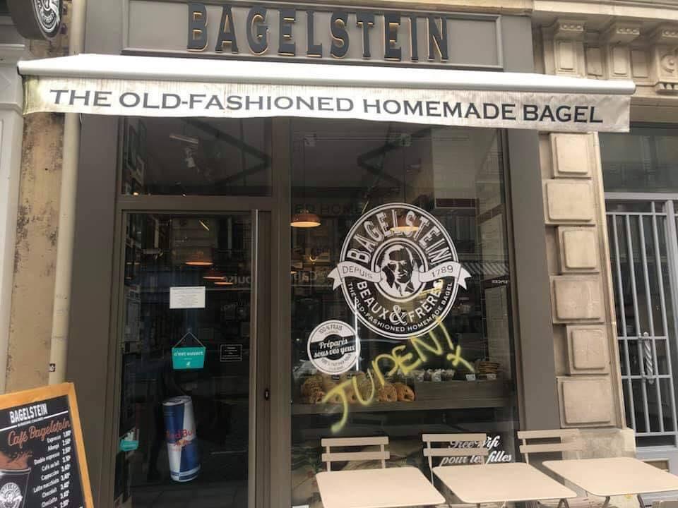 Bagelstein dépose plainte après un tag antisémite