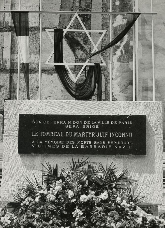 nauguration du Mémorial du martyr juif inconnu 1953 © Mémorial de la Shoah